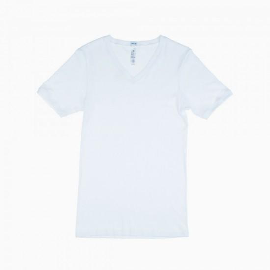 HOM  Casual Rib t-shirt V neck